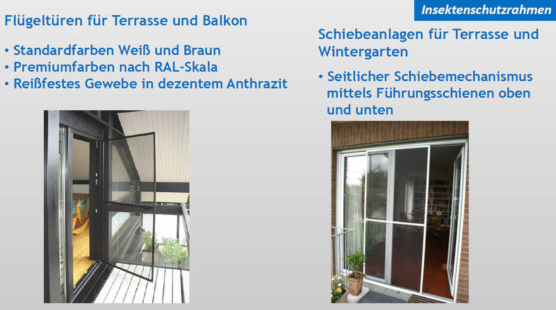Insektenschutz Flügeltüren & Schiebeanlagen | Moskito Moers
